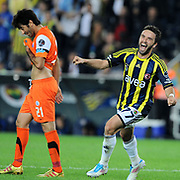 Fenerbahce's Gokhan GONUL celebrate his goal during their Turkish superleague soccer match Fenerbahce between Istanbul BB at the Sukru Saracaoglu stadium in Istanbul Turkey on Saturday 01 October 2011. Photo by TURKPIX