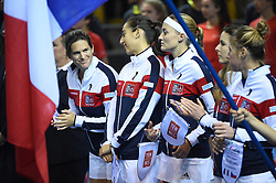 French Fed team during the presentation at the final round tie against Czech Republic at the Rhenus Arena, Strasbourg, France on november, 12, 2016. Photo by Corinne Dubreuil/ABACAPRESS.COM