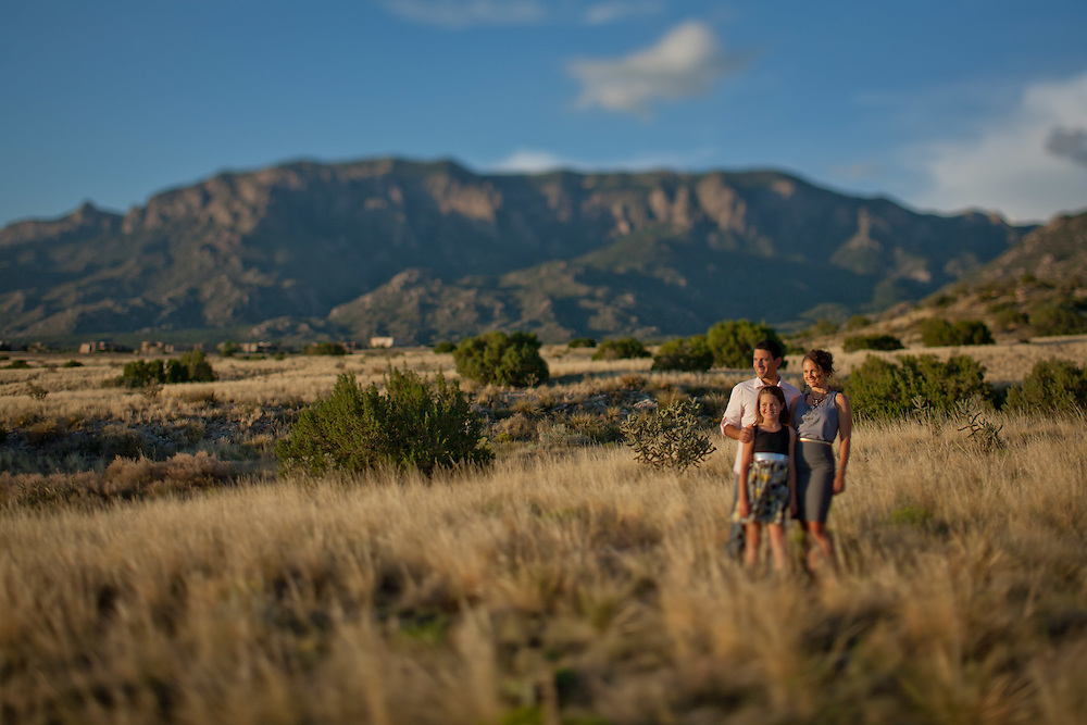 Gabe and Angie engagment portraits in the Sandia Mountains in Albuquerque New Mexico