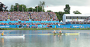 Eton Dorney, Windsor, Great Britain,..2012 London Olympic Regatta, Dorney Lake. Eton Rowing Centre, Berkshire.  Dorney Lake.  ..Final Women's Double Scull, GBR W2X, Bow Anna WATKINS and Katherine GRAINGER..12:17:10  Friday  03/08/2012 [Mandatory Credit: Peter Spurrier/Intersport Images]
