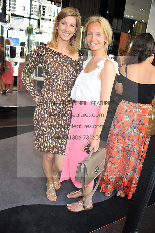 Left to right, SUSANNA WARREN and MARTHA WARD at a girl's lunch to celebrate the opening of Annoushka Ducas's new store Flagship Annoushka at 1 South Molton Street, London W1 on 26th July 2012.  Following drinks guests went for lunch at Claridge's, Brook Street, London.