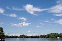 Arragoni Bridge over Connecticut River between Middletown and Portland, CT.