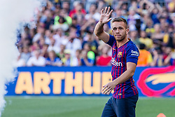 August 15, 2018 - Arthur Henrique from Brasil during the Joan Gamper trophy game between FC Barcelona and CA Boca Juniors in Camp Nou Stadium at Barcelona, on 15 of August of 2018, Spain. (Credit Image: © AFP7 via ZUMA Wire)