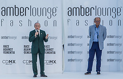 May 25, 2018 - Montecarlo, Monaco - Sir Jackie Stewart opens the auction at the 15th Amber Lounge Charity Fashion Show 2018 in Monte Carlo, Monaco. (Credit Image: © Robert Szaniszlo/NurPhoto via ZUMA Press)