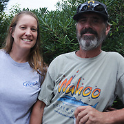 Margot York, left, and Terry Fuller pose for a photo Thursday August 7, 2014 during The Shrip-A-Roo at Buddy's Crab House & Oyster Bar in Wrightsville Beach, N.C.  (Jason A. Frizzelle)