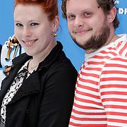 NLD/Haarlem/20120627 - Filmpremiere Ice Age 4, Coosje Smid en ?????