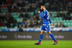 Grigoris Kastanos of Cyprus sent off after red card during football match between National Teams of Slovenia and Cyprus in Final Tournament of UEFA Nations League 2019, on October 16, 2018 in SRC Stozice, Ljubljana, Slovenia. Photo by  Morgan Kristan / Sportida