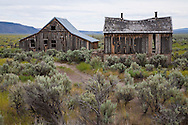 abandoned homestead in central Oregon