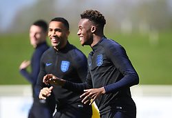 England's Callum Hudson-Odoi during the training session at St George's Park, Burton.