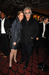 FLAVIO BRIATORE and ISABELLE CONNER MD of ING F1 programme at a party to celebrate the first year if ING's sponsorship of the Renault Formula 1 team, held at the Mayfair Hotel, Stratton Street, London W1 on 28th November 2007.<br />