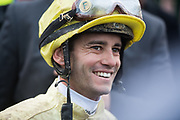 "May 4, 2019: 145th Kentucky Derby at Churchill Downs. Jockey of Derby winner ""Country House"" Flavien Prat"