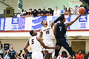 NORTH AUGUSTA, SC. July 10, 2019. Isaiah Todd 2020 #7 of Nightrydas Elite 17U lays the ball in at Nike Peach Jam in North Augusta, SC. <br /> NOTE TO USER: Mandatory Copyright Notice: Photo by Alex Woodhouse / Jon Lopez Creative / Nike