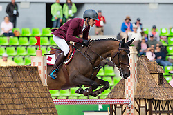 Khalid Mohammed A S Al Emadi, (QAT), Tamira IV - Team & Individual Competition Jumping Speed - Alltech FEI World Equestrian Games™ 2014 - Normandy, France.<br /> © Hippo Foto Team - Leanjo De Koster<br /> 02-09-14
