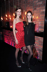 Left to right, TALI LENNOX and ISABELLA COTIER at the Mulberry Event at Morton's Berkeley Square, London on 3rd November 2010.