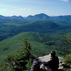 Backpacking.  White Mountains NF.   Pemigewasset Wilderness Area.  The Twinway -Appalachian Trail.  May.  Zeacliff Mt.,  NH
