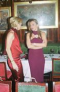 Mrs. Caroline Frankel, Cartier party. Annabels. Dec, 2001. © Copyright Photograph by Dafydd Jones 66 Stockwell Park Rd. London SW9 0DA Tel 020 7733 0108 www.dafjones.com