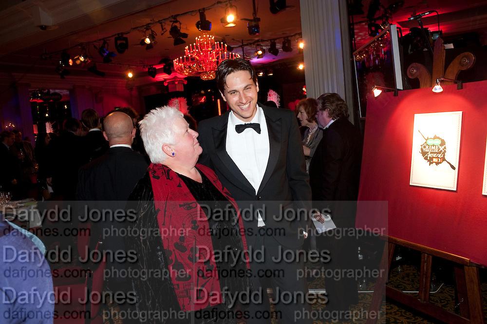 VAL MCDERMID; DAVID SHELLEY, Specsavers Crime Thriller Awards.  Award ceremony celebrating the best in crime fiction and television. <br /> Grosvenor House Hotel, Park Lane, London. 21 October 2009