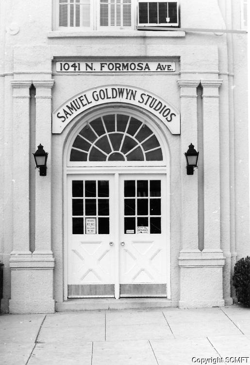 1974 Front door of Samuel Goldwyn Studios