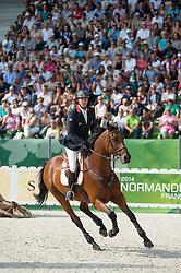 Patrice Delaveau (FRA), Zenith SFN - Show Jumping Final Four - Alltech FEI World Equestrian Games™ 2014 - Normandy, France.<br /> © Hippo Foto Team - Jon Stroud<br /> 07/09/2014