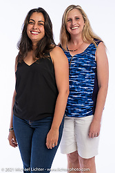 Iris Prieto (L) and Jenny Desmond at the Intercambio portrait Shoot. Longmont, CO, USA. June 5, 2021. Photography ©2021 Michael Lichter. Usage rights granted to Intercambio Uniting Communities and its assigns.