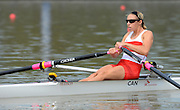 Chungju, South Korea. Sunday Heats, CAN. LW1X. Patricia OBEE. moves away from the start on the opening day of the 2013 FISA World Rowing Championships, Tangeum Lake International Regatta Course. 10:35:30  Sunday  25/08/2013 [Mandatory Credit. Peter Spurrier/Intersport Images]