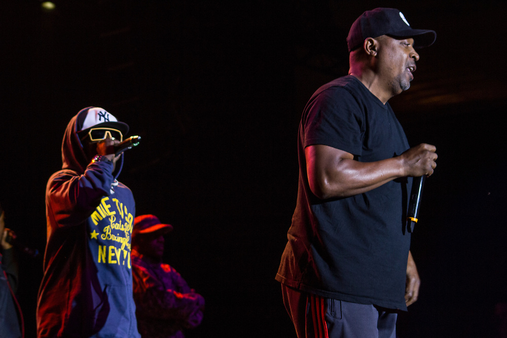 Public Enemy performing at Summerfest in Milwaukee, WI on June 25, 2015.