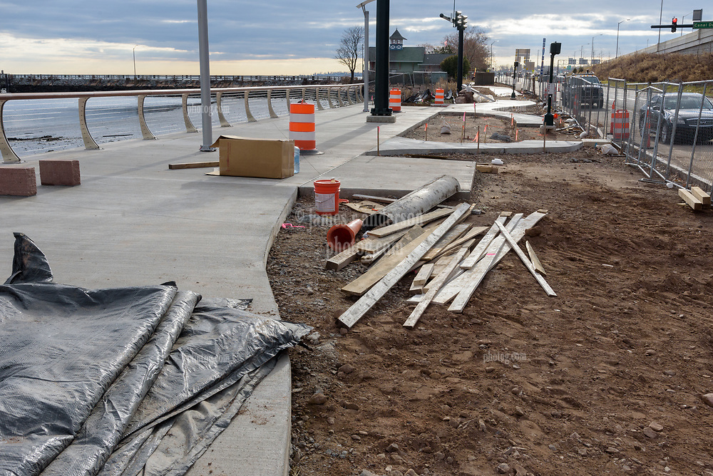 Boathouse at Canal Dock Phase II | State Project #92-570/92-674 Construction Progress Photo Documentation No. 17 on 1 December 2017. Image No. 04 Sidewalks to the south of the Boathouse