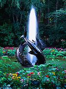 Fountain of the Three Sturgeons, Butchart Gardens, Victoria, British Columbia, Canada.
