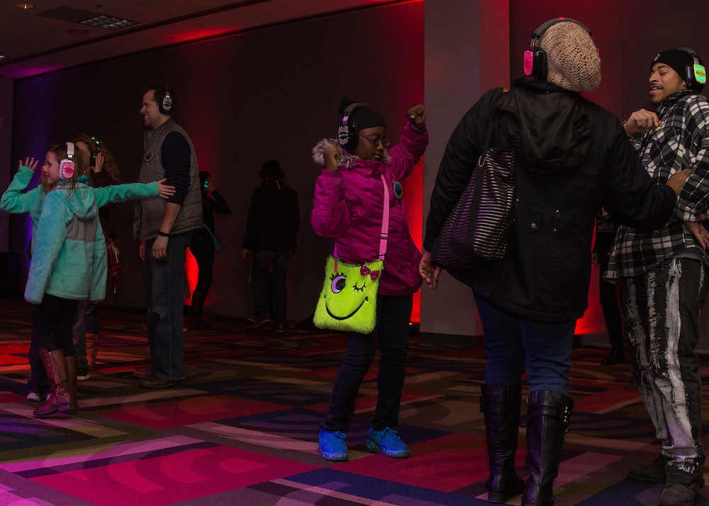 Silent Disco at the JSK Center at First Night Akron 2017.