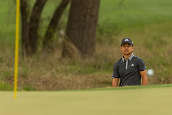 March 23, 2018 - Austin, TX, U.S. - AUSTIN, TX - MARCH 23: X. Schauffele watches his ball bounce on the green after a bunker shot during the WGC-Dell Technologies Match Play Tournament on March 22, 2018, at the Austin Country Club in Austin, TX.  (Photo by David Buono/Icon Sportswire) (Credit Image: © David Buono/Icon SMI via ZUMA Press)