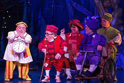 "© Licensed to London News Pictures. 06/12/2012. London, England. Warwick Davis, centre. Priscilla Presley makes her pantomime debut in ""Snow White and the Seven Dwarfs"" at the New Wimbledon Theatre, Wimbledon, from 7 December 2012 to 13 January 2013. Warwick Davis and Jarred Christmas star alongside her. Images from the Dress Rehearsal. Photo credit: Bettina Strenske/LNP"
