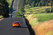 Image of a 2016 Gulf Orange Porsche GT4 in the Palouse, Washington, Pacific Northwest by Randy Wells
