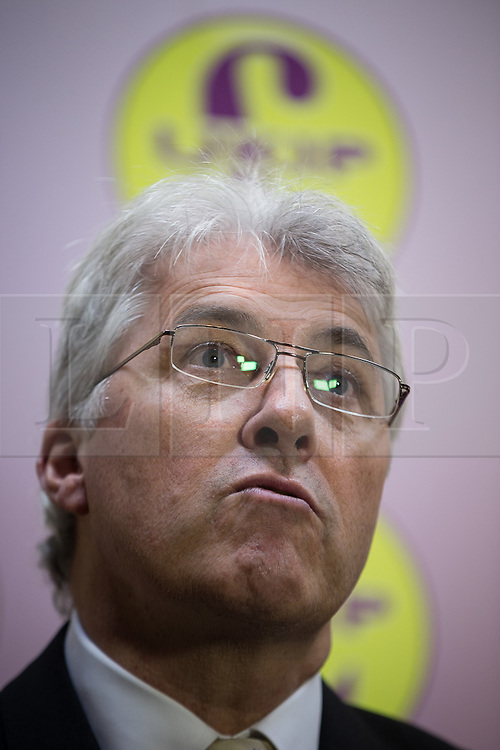 © Licensed to London News Pictures . 03/11/2015 . Oldham , UK . Candidate JOHN BICKLEY during a Q&A at the launch of the UKIP campaign for the seat of Oldham West and Royton , at the Railway Hotel in Royton . The by-election has been triggered by the death of MP Michael Meacher . Photo credit : Joel Goodman/LNP