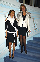 Left to right, MISS DIVIA LALVANI and her mother MRS VIMLA LALVANI  at jewellers Tiffany's Christmas party held at The Savile Club, 69 Brook Street, London on 14th December 2004.<br /><br />NON EXCLUSIVE - WORLD RIGHTS