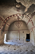 Pictures & images of Aynali Kilise (Church) cave church interior frescoes, iconoclastic period (725-842), near Goreme, Cappadocia, Nevsehir, Turkey .<br /> <br /> If you prefer to buy from our ALAMY PHOTO LIBRARY  Collection visit : https://www.alamy.com/portfolio/paul-williams-funkystock/cappadociaturkey.html (TIP refine search - enter Aynali Kilise a into the LOWER search box)<br /> <br /> Visit our TURKEY PHOTO COLLECTIONS for more photos to download or buy as wall art prints https://funkystock.photoshelter.com/gallery-collection/3f-Pictures-of-Turkey-Turkey-Photos-Images-Fotos/C0000U.hJWkZxAbg