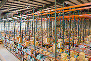 Interior of the warehouse at Acumen Brands in Fayetteville, Ark.
