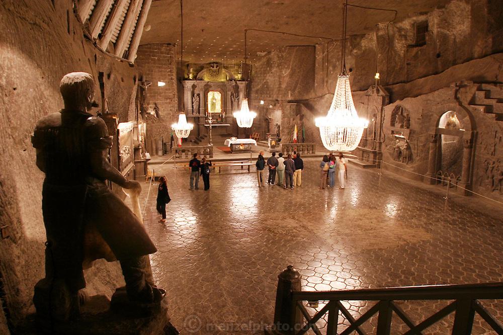 Wieliczka, Poland. Salt Mine Chapel of the Blessed Kinga (near Krakow).