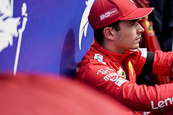 September 1, 2019, Francorchamps, Belgium: CHARLES LECLERC of Scuderia Ferrari on the starting grid before the Formula 1 Belgian Grand Prix at Circuit de Spa-Francorchamps in Francorchamps, Belgium. (Credit Image: © James Gasperotti/ZUMA Wire)