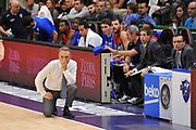 DESCRIZIONE : Campionato 2014/15 Dinamo Banco di Sardegna Sassari - Enel Brindisi<br /> GIOCATORE : Piero Bucchi<br /> CATEGORIA : Allenatore Coach<br /> SQUADRA : Enel Brindisi<br /> EVENTO : LegaBasket Serie A Beko 2014/2015<br /> GARA : Dinamo Banco di Sardegna Sassari - Enel Brindisi<br /> DATA : 27/10/2014<br /> SPORT : Pallacanestro <br /> AUTORE : Agenzia Ciamillo-Castoria / Luigi Canu<br /> Galleria : LegaBasket Serie A Beko 2014/2015<br /> Fotonotizia : Campionato 2014/15 Dinamo Banco di Sardegna Sassari - Enel Brindisi<br /> Predefinita :