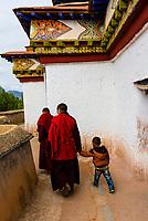 The Kumbum Stupa (the largest stupa in Tibet), Palcho Monastery, Gyangze, Tibet (Xizang), China.