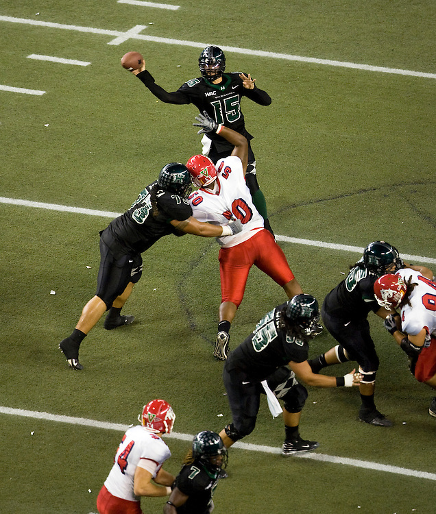 University of Hawaii Warriors quarterback Colt Brennan
