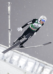 February 8, 2019 - Lahti, Finland - Simon Ammann participates in FIS Ski Jumping World Cup Large Hill Individual training at Lahti Ski Games in Lahti, Finland on 8 February 2019. (Credit Image: © Antti Yrjonen/NurPhoto via ZUMA Press)