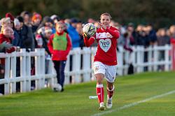 Loren Dykes of Bristol City takes a throw-in - Mandatory by-line: Paul Knight/JMP - 28/10/2018 - FOOTBALL - Stoke Gifford Stadium - Bristol, England - Bristol City Women v Arsenal Women - FA Women's Super League