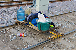 Cleaning Supplies For Working On Tramway, or Trolly