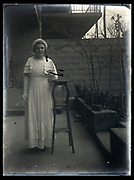 young adult woman standing France 1934