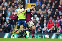 Aston Villa v Derby County - Sky Bet Championship<br /> BIRMINGHAM, ENGLAND - APRIL 28 :  Bradley Johnson of Derby County challenges Aston Villa's Robert Snodgrass