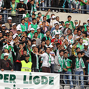 Konyaspor's supportres during their Turkish soccer Play Off final match Altayspor between Konyaspor at Ataturk Olympic Stadium in Istanbul Turkey on Sunday, 23 May 2010. Photo by TURKPIX