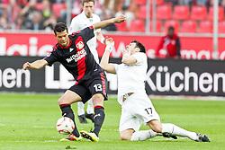 10.04.2011,  BayArena, Leverkusen, GER, 1. FBL, Bayer Leverkusen vs FC St. Pauli, 29. Spieltag, im Bild: Michael Ballack (Leverkusen #13) (L) gegen Fabian Boll (St. Pauli #17)  EXPA Pictures © 2011, PhotoCredit: EXPA/ nph/  Mueller       ****** out of GER / SWE / CRO  / BEL ******