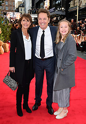 Anne-Marie Conley, Brian Conley and Lucy Conley attending the world premiere of Goodbye Christopher Robin at the Odeon in Leicester Square, London. See PA story SHOWBIZ Goodbye. Picture Date: Wednesday 20 September. Photo credit should read: Ian West/PA Wire