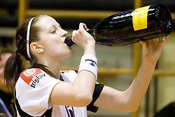 Ana Gros at last 10th Round handball match of Slovenian Women National Championships between RK Krim Mercator and RK Olimpija, on May 15, 2010, in Galjevica, Ljubljana, Slovenia. Olimpija defeated Krim 39-36, but Krim became Slovenian National Champion. (Photo by Vid Ponikvar / Sportida)